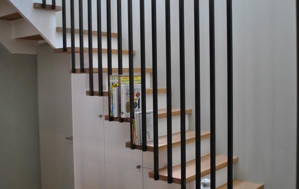cr ation escalier sur mesure avec rangement int gr arradon xylon o. Black Bedroom Furniture Sets. Home Design Ideas